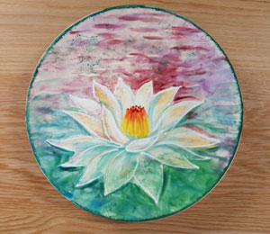 Porter Ranch Lotus Flower Plate