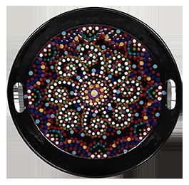 Porter Ranch Mosaic Mandala Tray