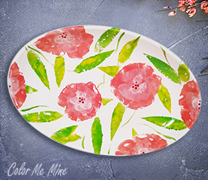 Porter Ranch Floral Paper Stamping