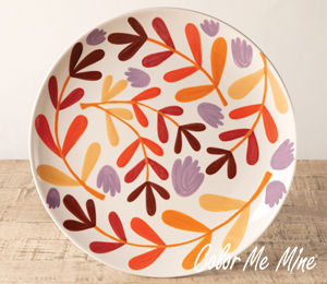 Porter Ranch Fall Floral Charger