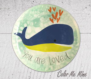 Porter Ranch Whale Love Plate