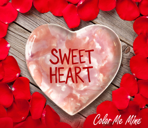 Porter Ranch Candy Heart Plate