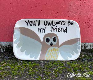 Porter Ranch Owl Plate