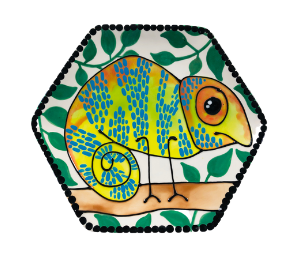 Porter Ranch Chameleon Plate