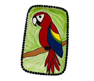 Porter Ranch Scarlet Macaw Plate